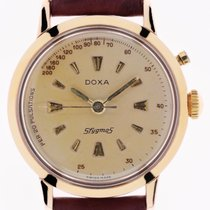 Doxa Rose gold Chronograph Champagne No numerals 35mm pre-owned