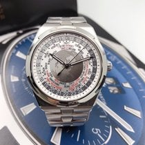 Vacheron Constantin Overseas World Time pre-owned 43.5mm Blue Steel