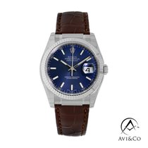 Rolex Datejust White gold 36mm Blue No numerals United States of America, New York, New York