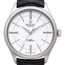 Rolex Cellini Time Белое золото 39mm Cеребро Без цифр