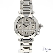 Cartier Pasha 32mm White Gold/Diamonds