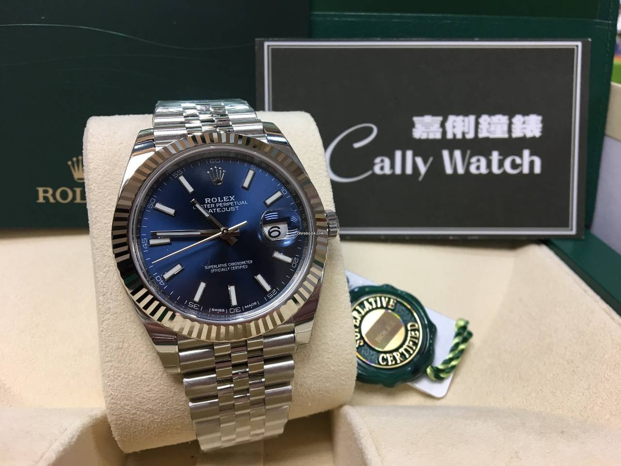Rolex Cally New Datejust 41mm 126334 Blue Dial For