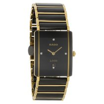 Rado Integral Series Mens Gold Tone Ceramic Quartz Watch...