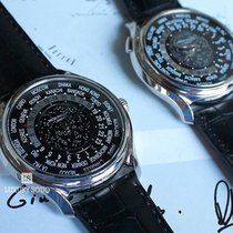Patek Philippe World Time Chronograph usados 39.5mm Azul Cronógrafo Cuero de cocodrilo