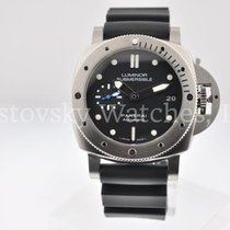 Panerai pre-owned Automatic 42mm Black Sapphire Glass 30 ATM