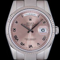Rolex Day-Date 36 White gold 36mm Pink Roman numerals United Kingdom, London