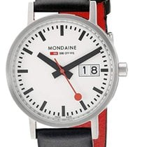 Mondaine Classic Stahl 33mm Weiß Arabisch
