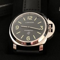 Panerai Luminor Base Logo Stål 44mm Svart Arabiska
