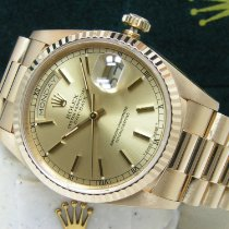 Rolex new Automatic Center Seconds Screw-Down Crown Quick Set Only Original Parts 36mm Yellow gold Sapphire Glass