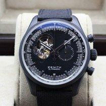 Zenith Aluminum Automatic Black 45mm pre-owned El Primero Chronomaster