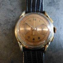 Chronographe Suisse Cie Sarı altın 45mm Elle kurmalı ikinci el