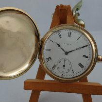 Elgin Watch pre-owned 1900 Gold/Steel 51mm Arabic numerals Manual winding Watch only