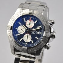 Breitling Super Avenger II Steel 48mm Blue No numerals