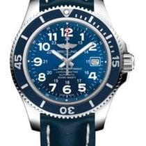 Breitling Superocean II 42 Stahl 42mm Blau Arabisch