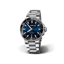 Oris Steel Automatic Blue No numerals 43.5mm new Aquis Date