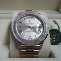 Rolex Oro rosa Automático Rosa Romanos 40mm nuevo Day-Date 40