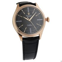 Rolex Cellini Time 50505 18k Rose Gold Black Lacquer Dial