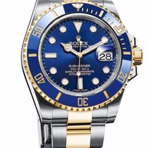 Rolex Submariner Date 40mm Steel and Yellow Gold Ceramic Blue...
