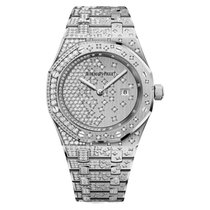 Audemars Piguet Royal Oak Quartz Full Diamonds White Gold 33mm