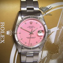 Rolex Date 34mm Stainless Steel Pink Dial Automatic Watch 1501