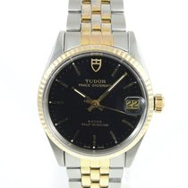 Tudor Prince Oysterdate Gold/Steel 31mm Black