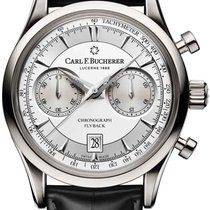 Carl F. Bucherer Chronograph 43mm Manual winding 2018 pre-owned Manero Silver