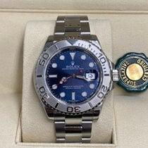 Rolex Yacht-Master 40 Stahl 40mm Blau Keine Ziffern