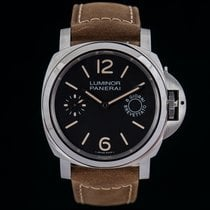 Panerai Luminor Marina 8 Days Steel 44mm Black Arabic numerals