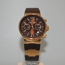 Ulysse Nardin Marine Chronograph 356-66-3/355 подержанные