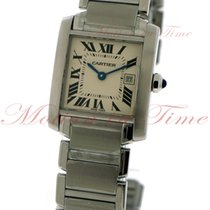 Cartier Tank Francaise Medium, Silver Dial - Stainless Steel...