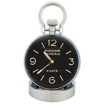 Panerai Table Clock Aço 65mm Preto
