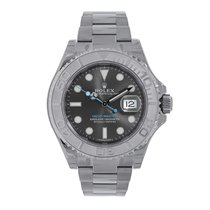 Rolex YACHT-MASTER 40mm Steel & Platinum Dark Rhodium Dial 116622