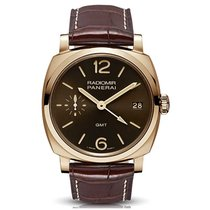 Panerai Special Editions Or rose 47mm Brun Arabes