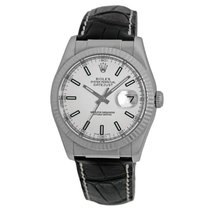 Rolex 18K White Gold 36mm Oyster Perpetual Datejust Box...