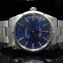 Rolex 1987 34mm Oyster Perpetual, 1003, Blue, Boxed