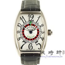 Franck Muller Vegas White gold 38mm Silver Arabic numerals