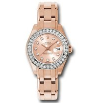 Rolex Lady-Datejust Pearlmaster Roségold 29mm Pink