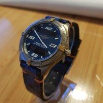 Breitling Kronograf 40mm Kvarts begagnad Aerospace Blå