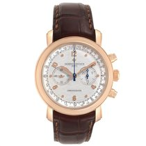 Vacheron Constantin Malte pre-owned 41.5mm Silver Tachymeter Leather