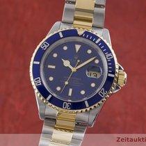Rolex Submariner Date Guld/Stål 40mm Blå