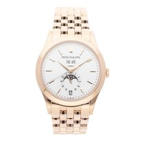 Patek Philippe Annual Calendar Rose gold 38.5mm Silver No numerals United States of America, Pennsylvania, Bala Cynwyd
