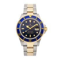 Rolex Submariner Date pre-owned 40mm Blue Date Fold clasp