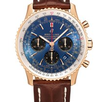 Breitling RB0121211C1P4 Goud/Staal 2021 Navitimer 1 B01 Chronograph 43 43mm nieuw