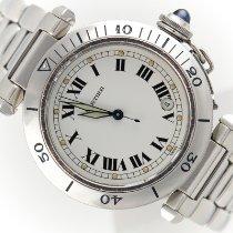 Cartier Pasha Acero 38mm Blanco