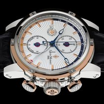 Louis Moinet Geograph Gold/Steel 45,5mm Silver