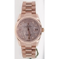Rolex President Day-Date 118235 18K Rose Gold Men's New Style...