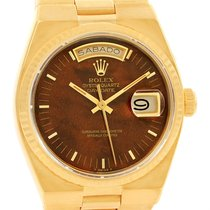Rolex Oysterquartz President Day Date 18k Yellow Gold Wood...