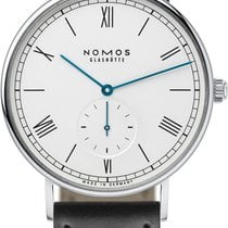 NOMOS Steel Automatic White 40mm new Ludwig Automatik
