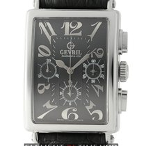 Gevril Avenue Of Americas Chronograph Steel 34mm Black Dial...
