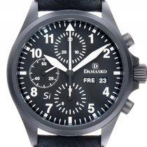 Damasko DC56Si Black Stahl Black Automatik Chronograph Armband...